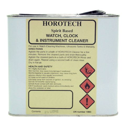 HOROTECH Spirit Based WATCH, CLOCK and INSTRUMENT CLEANER 2.5lt